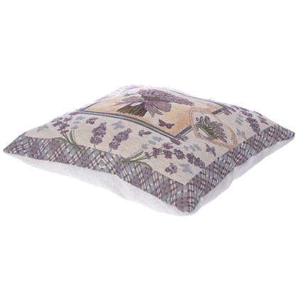 Подушка декоративная Лавандовый букет 38х38 см гобелен