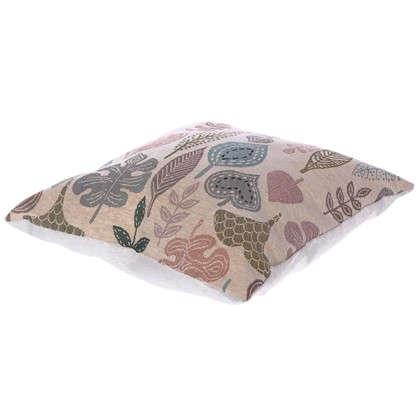 Подушка декоративная Листья 38х38 см гобелен