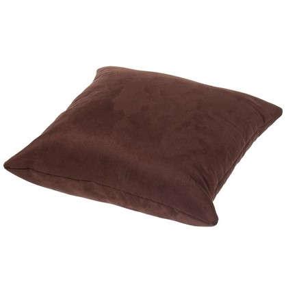 Подушка декоративная Манчестер 40х40 см цвет шоколадный
