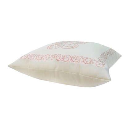 Подушка декоративная Неоклассика 40х40 см цвет розовый