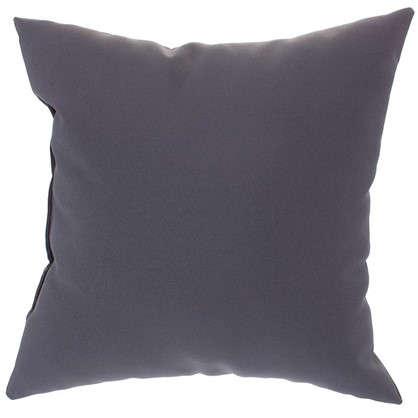 Купить Подушка декоративная Однотон 40х40 см цвет серый дешевле