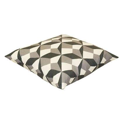Купить Подушка декоративная Оптикал 40х40 см цвет серый дешевле