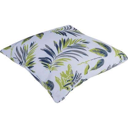 Подушка декоративная Папоротник 40х40 см текстура листья