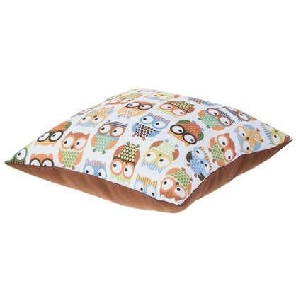 Подушка декоративная Совы 40х40 см мультиколор