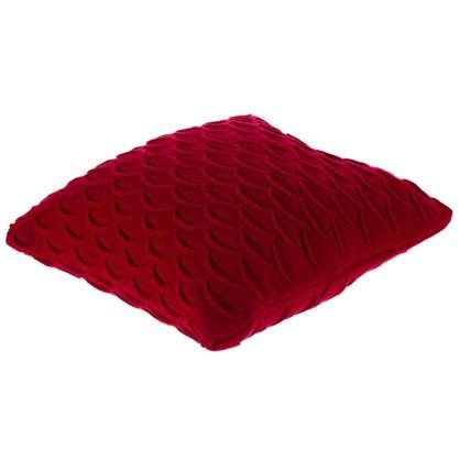 Купить Подушка декоративная вязаная 40х40 см цвет красный дешевле