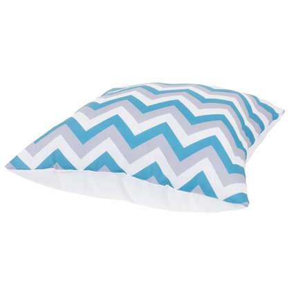 Подушка декоративная Зиг-заг 40х40 см цвет бирюзовый