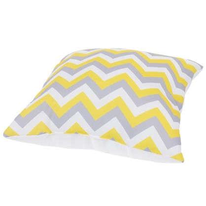 Подушка декоративная Зиг-заг 40х40 см цвет желтый