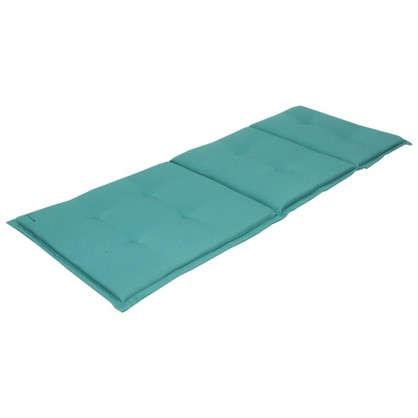 Купить Подушка для шезлонга голубая 165х65х5 см полиэстер дешевле