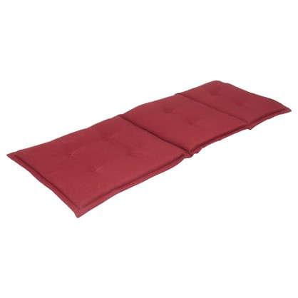 Подушка для шезлонга красная 165х65х5 см полиэстер