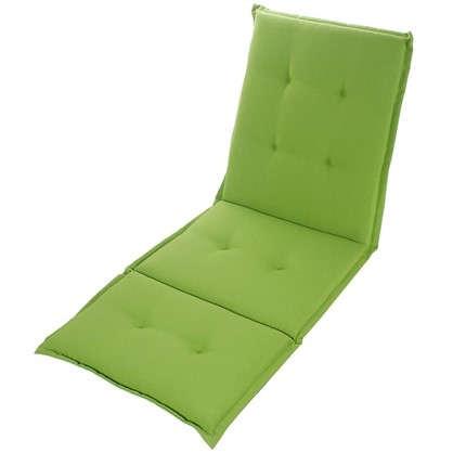 Купить Подушка для шезлонга зеленая 165х65х5 см полиэстер дешевле