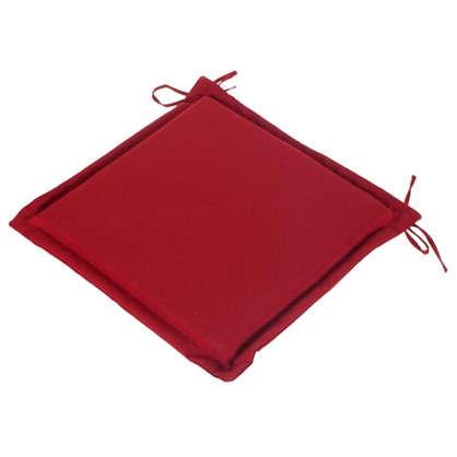 Подушка для стула красная 43х43 см полиэстер