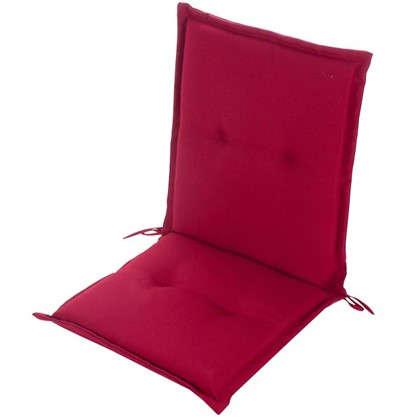 Подушка для стула красная 92х48х5 см полиэстер