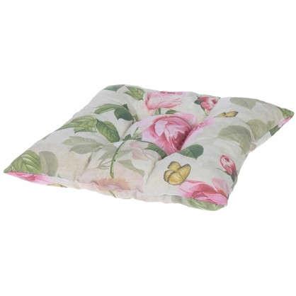 Купить Подушка для стула Садовый аромат 40х40 см цвет розовый дешевле