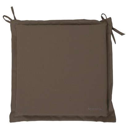Подушка для стула серая 43х43 см полиэстер