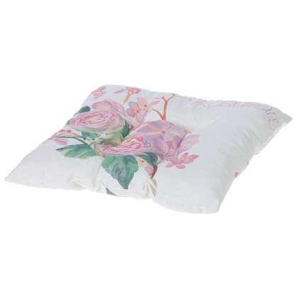 Купить Подушка для стула Шарм Розмари 40х40 см цвет розовый дешевле