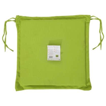 Купить Подушка для стула зеленая 43х43 см полиэстер недорого