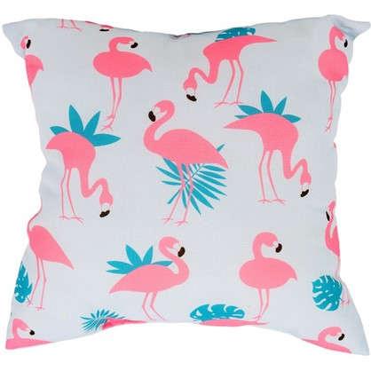 Подушка Фламинго 40х40 см цвет розовый