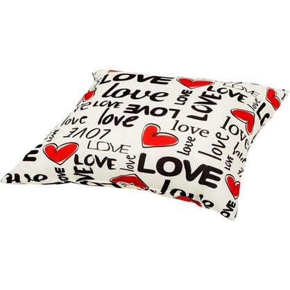 Подушка Love 40х40 см цвет красный
