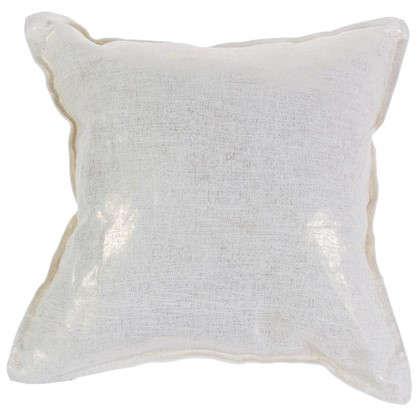 Подушка Лен 40х40 см сетка цвет золотой
