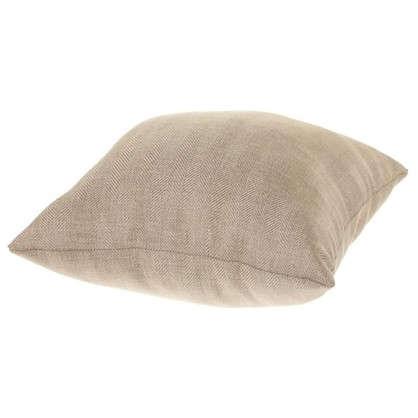 Подушка Лен елочка 40х40 см цвет бежевый