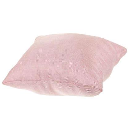 Купить Подушка Лен елочка 40х40 см цвет розовый дешевле