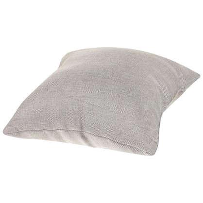 Подушка Лен елочка 40х40 см цвет серый