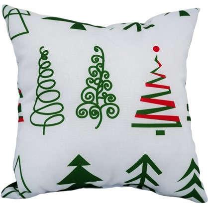 Подушка Новый год ель 40х40 см цвет зеленый