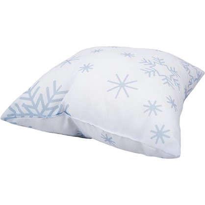 Подушка Новый год снежинки 40х40 см