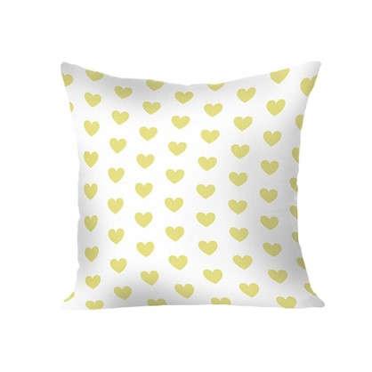 Купить Подушка Сердечки 40х40 см цвет желтый дешевле