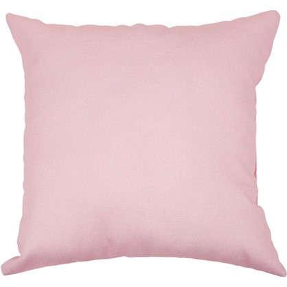 Подушка Шарм Пыльная роза 40х40 см цвет розовый