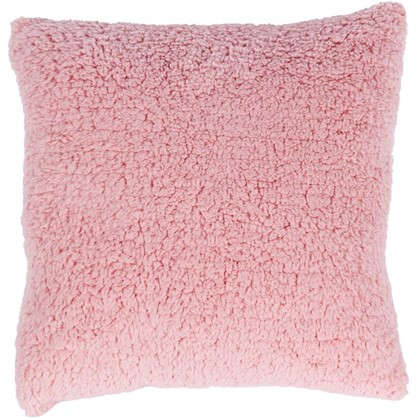 Подушка Шерпа 45х45 см цвет розовый