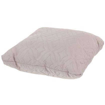 Подушка стеганая Melissa 40х40 см цвет бежево-серый