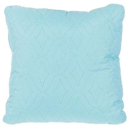 Подушка стеганая Melissa 40х40 см цвет бирюзовый