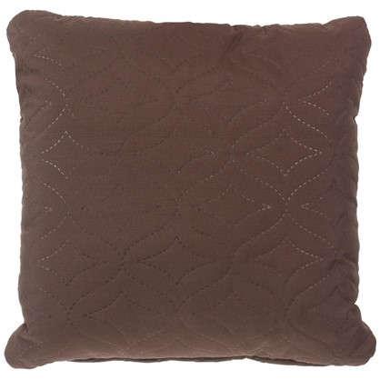 Подушка стеганая Melissa 40х40 см цвет коричневый