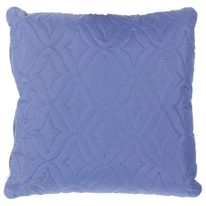 Купить Подушка стеганая Melissa 40х40 см цвет синий дешевле