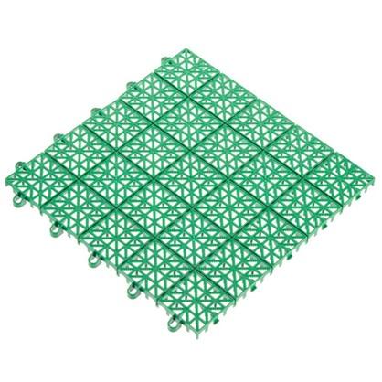 Купить Покрытие садовое из ЭКО-пластика 34х34 см цвет зелёный/терракот 9 шт. дешевле