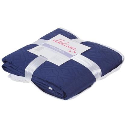 Покрывало стеганое Melissa 200х220 см цвет сине-белый