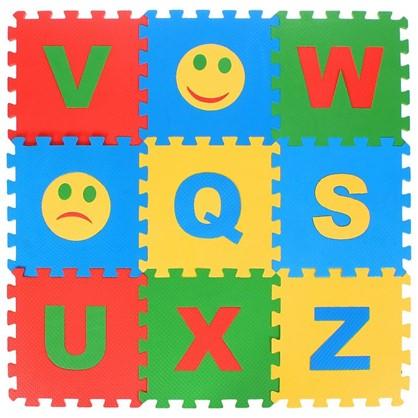 Пол мягкий Английский алфавит полипропилен 25x25 см в упаковке 32 шт.