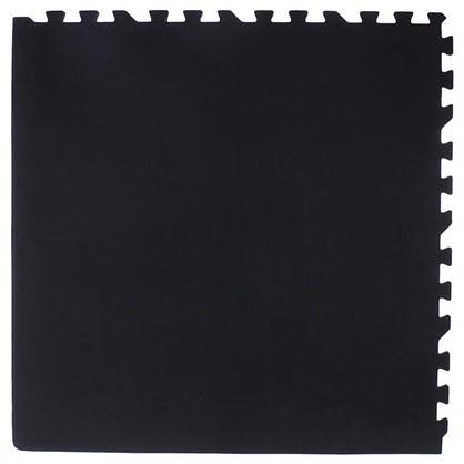 Пол мягкий полипропилен 60x60 см цвет чёрно-серый в упаковке 4 шт.