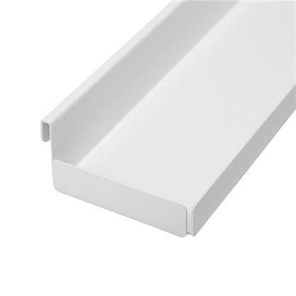 Полка боковая НСХ 86x41x316 мм цвет белый