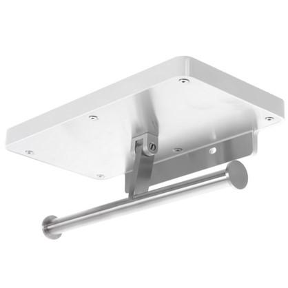 Полка для ванной комнаты 24.5х13 см с держателем для туалетной бумаги