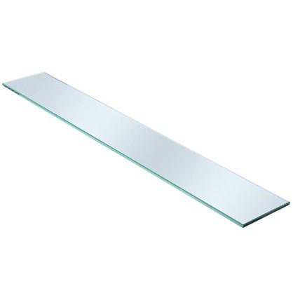 Полка для ванной комнаты 80х12 см стекло