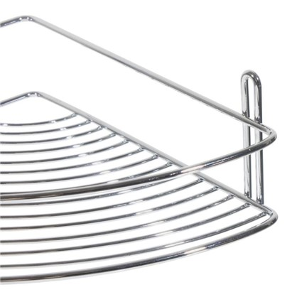 Полка для ванной комнаты одноярусная угловая
