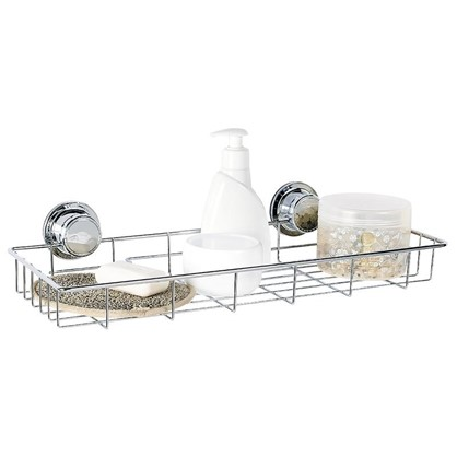 Полка для ванной комнаты Vacuum Screw одноярусная сталь