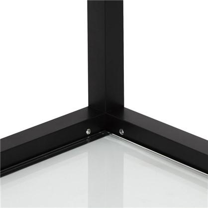 Полка-каркас для стеллажа 22х35х60 см алюминий/стекло