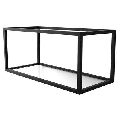 Полка-каркас для стеллажа 35х35х80 см алюминий/стекло