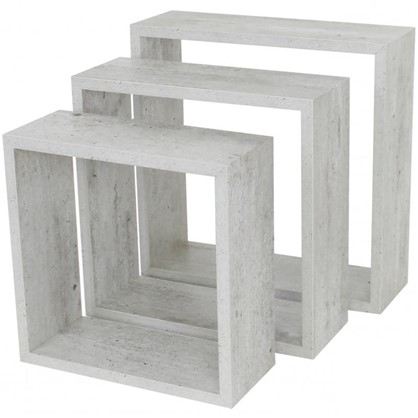 Полка кубическая 20х10 см/24х10 см/28х10 см цвет светлый 3 шт.
