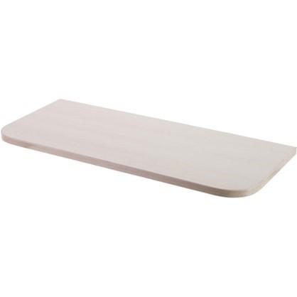 Полка мебельная с закругленными углами 600х250х16 ЛДСП цвет дуб беленый