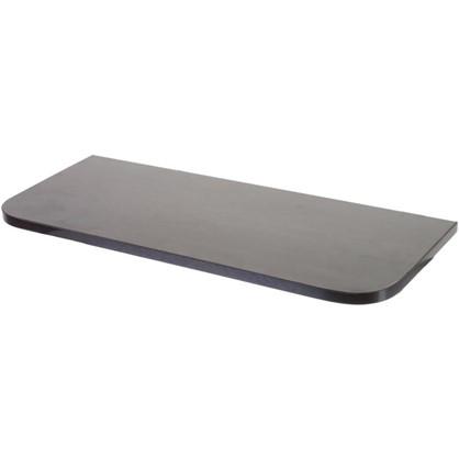 Полка мебельная с закругленными углами 600х250х16 мм ЛДСП цвет венге