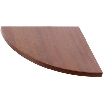 Полка мебельная закругленная секторальная 250x250x16 мм ЛДСП цвет орех